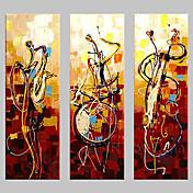 Hang malte oljemaleri Håndmalte - Abstrakt Klassisk Tradisjonell Tre Paneler