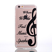 Funda Para Apple iPhone 6 iPhone 7 Plus iPhone 7 Transparente Diseños En Relieve Funda Trasera Azulejo Suave TPU para iPhone 7 Plus