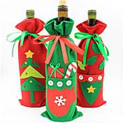 decoraciones de Navidad las nuevas bolsas de regalo juego de botellas de vino de champán bolsa de caramelos de los productos de navidad