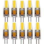 YWXLIGHT® 10pcs 4W 250-350 lm G4 LED-spotpærer T 1 leds COB Dekorativ Varm hvit Kjølig hvit Naturlig hvit AC / DC 12-24V