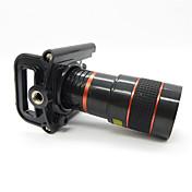 8x Lente Telefoto universal con clip de metal universal para el teléfono móvil - Rojo + Negro