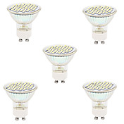 5pcs 2700/6500lm GU10 GX5.3 Focos LED MR16 48led Cuentas LED SMD 2835 Decorativa Blanco Cálido Blanco Fresco
