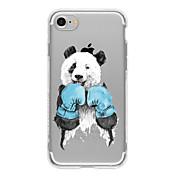 Etui Til Apple iPhone 7 / iPhone 7 Plus / iPhone 6 Mønster Bakdeksel Katt / Panda Myk TPU til iPhone 7 Plus / iPhone 7 / iPhone 6s Plus