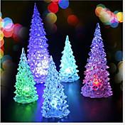 2stk Juletre jul mini LED lys fargerike nattlampe (tilfeldig farge)