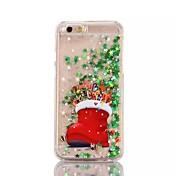 제품 아이폰7케이스 아이폰6케이스 아이폰5케이스 케이스 커버 플로잉 리퀴드 반투명 패턴 뒷면 커버 케이스 크리스마스 하드 PC 용 Apple 아이폰 7 플러스 아이폰 (7) iPhone 6s Plus iPhone 6 Plus iPhone 6s