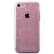 Para Diamantes Sintéticos / Transparente Funda Cubierta Trasera Funda Un Color Suave TPU AppleiPhone 7 Plus / iPhone 7 / iPhone 6s Plus/6