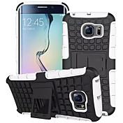 Etui Til Samsung Galaxy Samsung Galaxy Etui Støtsikker med stativ Bakdeksel Rustning PC til S7 edge S7 S6 edge S6 S5 Mini S5 S4