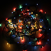 4m Cuerdas de Luces 100 LED Color aleatorio Regulable