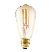 GMY® 1pc 4W 350lm E26 / E27 Bombillas de Filamento LED ST58 4 Cuentas LED COB Regulable Decorativa Ámbar 220-240V