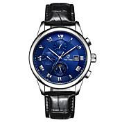 Tevise Hombre Mujer Pareja El reloj mecánico Reloj Esqueleto Reloj de Moda Reloj Deportivo Cuarzo Cuerda Automática Calendario Resistente
