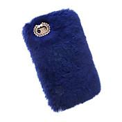 Para iPhone X iPhone 8 iPhone 7 iPhone 7 Plus iPhone 6 Carcasa Funda Diamantes Sintéticos Cubierta Trasera Funda Color sólido Suave Textil