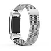 Klokkerem til Fitbit Charge 2 Fitbit Milanesisk rem Metall Rustfritt stål Håndleddsrem