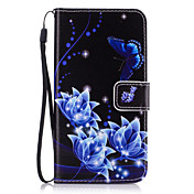 Etui Til Samsung Galaxy J7 Prime / J5 Prime Lommebok / Kortholder / med stativ Heldekkende etui Blomsternål i krystall Hard PU Leather til J7 Prime / J7(2016) / J7