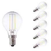 GMY® 6pcs 250 lm E14 Bombillas de Filamento LED P45 2 leds COB Blanco Cálido Blanco Fresco AC 100-240 V