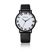 Mujer Reloj de Pulsera Reloj de Moda Reloj Casual Cuarzo / Reloj Casual Piel Banda Casual Negro Blanco