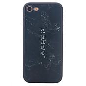 Para iPhone X iPhone 8 iPhone 7 iPhone 7 Plus iPhone 6 Carcasa Funda Diseños Cubierta Trasera Funda Palabra / Frase Dura Fibra acrílica