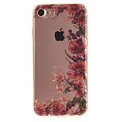 Funda Para Apple iPhone 6 iPhone 7 IMD Funda Trasera Flor Suave TPU para iPhone 7 iPhone 6s iPhone 6