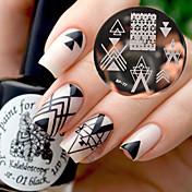 arte de uñas Placa de estampado Moda Alta calidad Diario