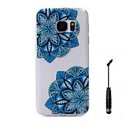 Para Diseños Funda Cubierta Trasera Funda Flor Suave TPU para Samsung S7 edge / S7