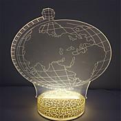 mejor regalo mini efecto 3d lámpara de noche de color blanco cálido