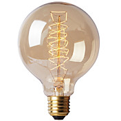 Ecolight™ 1pc 40W E27 E26/E27 G80 Blanco Cálido 2300 K Bombilla incandescente Vintage Edison AC 220-240V V