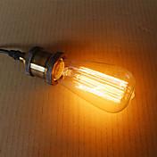 e27 60w st58 alambre recto Edison pezón tungsteno arte iluminación fuente de luz de decoración