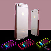 Etui Til Apple iPhone 8 iPhone 8 Plus iPhone 6 iPhone 6 Plus Blinkende LED-lys Gjennomsiktig Bakdeksel Helfarge Myk TPU til iPhone 8 Plus