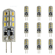 10pcs 1.5W 300lm G4 Luces LED de Doble Pin Tubo 24 Cuentas LED SMD 3014 Regulable Decorativa Verde Azul Rojo 12V