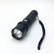 Linternas LED LED 800 Lumens 3 Modo LED 1 x Batería 18650 Enfoque Ajustable Impermeable Tamaño Compacto Super Ligero para