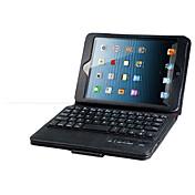Funda Para Mini iPad 3/2/1 con Soporte con Teclado Flip Funda de Cuerpo Entero Color sólido Dura Cuero de PU para