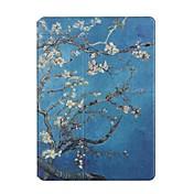 Funda Para Apple iPad Air 2 iPad Air Soporte de Coche Origami Funda de Cuerpo Entero Flor Dura Cuero de PU para iPad Air iPad Air 2 Apple