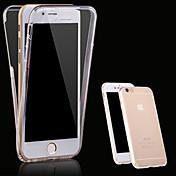 케이스 제품 Apple iPhone X iPhone 8 아이폰5케이스 iPhone 6 iPhone 6 Plus iPhone 7 Plus iPhone 7 투명 전체 바디 케이스 한 색상 소프트 TPU 용 iPhone X iPhone 8 Plus