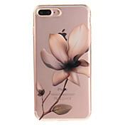 Funda Para Apple iPhone 8 iPhone 8 Plus IMD Transparente Diseños Funda Trasera Flor Suave TPU para iPhone 8 Plus iPhone 8 iPhone 7 Plus