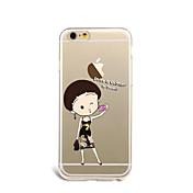 Para Carcasa Funda Ultrafina Diseños Cubierta Trasera Funda Chica Sexy Suave TPU para AppleiPhone 7 Plus iPhone 7 iPhone 6s Plus iPhone 6