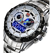 Hombre Reloj de Pulsera Reloj Militar Reloj de Vestir Reloj de Moda Reloj Deportivo Cuarzo Digital Calendario Aleación Banda Encanto Lujo