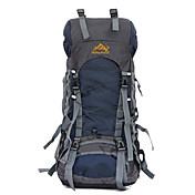 60 L 배낭 백패킹 배낭 하이킹 배낭 자전거 배낭 여행 더플 등산 캠핑&등산 여행 스노우 스포츠 방수 비 방지 착용 가능한 통기성 충격방지 나일론