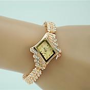 Mujer Reloj de Vestir Reloj de Moda Reloj Pulsera Cuarzo La imitación de diamante Aleación Banda Encanto Elegant Dorado