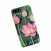 Funda Para Apple iPhone 7 Plus iPhone 7 Antigolpes Congelada Diseños Funda Trasera Flor Suave TPU para iPhone 7 Plus iPhone 7 iPhone 6s