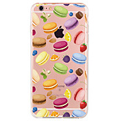 Para Funda iPhone 7 Funda iPhone 6 Funda iPhone 5 Diseños Funda Cubierta Trasera Funda Comida Suave TPU para AppleiPhone 7 Plus iPhone 7