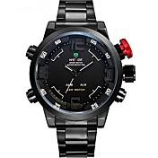 WEIDE Hombre Reloj Deportivo Reloj de Moda Reloj de Pulsera Cuarzo Cuarzo Japonés LED Calendario Cronógrafo Resistente al Agua Dos Husos