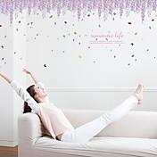 Romance De moda Florales Pegatinas de pared Calcomanías de Aviones para Pared Calcomanías Decorativas de Pared,Papel MaterialDecoración