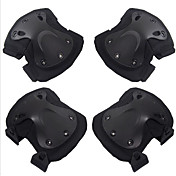 4 PC negro protector de halcón cs aire libre que monta rodillera codera de fijar accesorios de la motocicleta