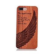 Para Antigolpes En Relieve Diseños Funda Cubierta Trasera Funda Pluma Dura Madera para AppleiPhone 7 Plus iPhone 7 iPhone 6s Plus/6 Plus