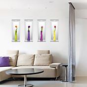 Calcomanías Decorativas de Pared - Calcomanías 3D para Pared De moda / Florales / 3D Sala de estar / Dormitorio / Baño
