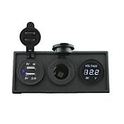 12V / 24V 전원 charger3.1a의 USB 포트와 자동차 보트 트럭 RV에 대한 주택 소유자 패널 12V 전압계 게이지