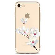 용 패턴 케이스 뒷면 커버 케이스 꽃장식 소프트 TPU 용 Apple 아이폰 7 플러스 아이폰 (7) iPhone 6s Plus/6 Plus iPhone 6s/6