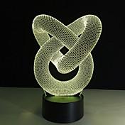 1 stk 3D nattlys Fjernkontroll / Fargeskiftende / Liten størrelse Kunstnerisk / LED / Moderne / Nutidig