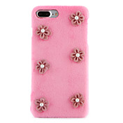 Funda Para Apple iPhone 7 Plus iPhone 7 Diamantes Sintéticos Manualidades Funda Trasera Flor Dura Textil para iPhone 7 Plus iPhone 7