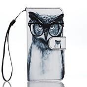 Para Cartera Soporte de Coche con Soporte Flip Diseños Funda Cuerpo Entero Funda Búho Dura Cuero Sintético para AppleiPhone 7 Plus iPhone