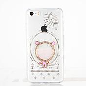 Para Diamantes Sintéticos Manualidades Funda Cubierta Trasera Funda Dibujo 3D Dura Policarbonato para Apple iPhone 7